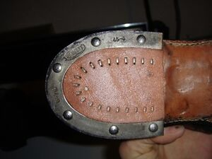 BRAND NEW MENS BLACK LEATHER BOOTS  -  WITH TAPS Strathcona County Edmonton Area image 4