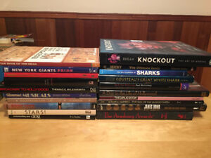 HOLLYWOOD, SHARKS, SPORTS COFFEE TABLE BOOKS