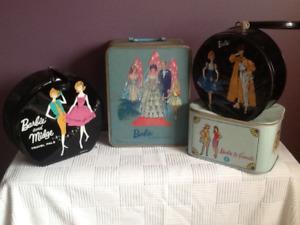 Vintage 1960's Barbie doll collectible cases! Fair condition.