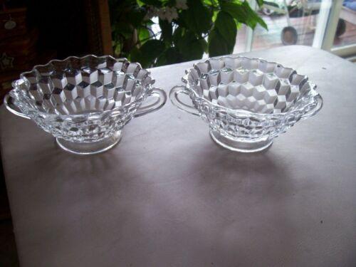 "Fostoria American 5"" cream soup bowls (2)"
