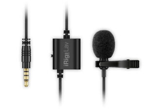 Lavalier Lapel iRig Mic Lav Microphone with Easy Clip On System