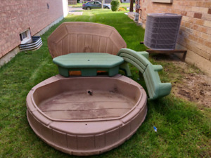 Sandbox with attached table