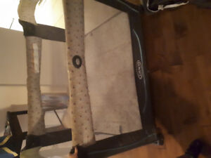 Graco playpen with bassinet and change table
