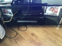 Black glass tv stand up to 60 inch tv