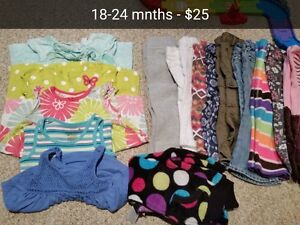 Girls 18 months clothing and shoes