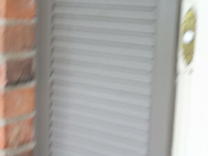 Shutters - solid wood louvered (non vented)