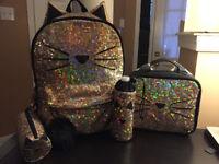 Justice Backpack Set - Gold Cat