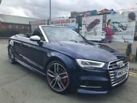 AUDI S3 2.0 TFSI 310 QUATTRO S TRONIC CAB 2016/66 NEW SHAPE *1 OWNER *PX WELCOME