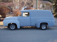 TWO 1956 Ford F-100 Panel Van Pickup Truck