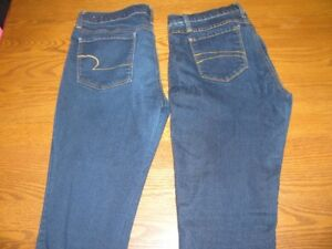 2  DENIM JEANS  -  SECOND YOGA  /  AMERICAN EAGLE