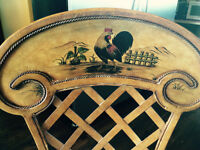 Country Rooster Stools