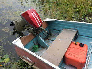 Springbok aluminum 14 ft with 9.9 outboard