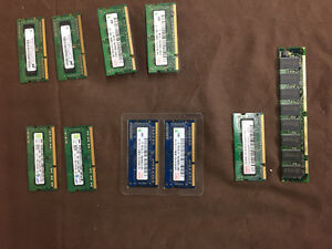 10 RAM cards, mostly from Macbook / Macbook Pro
