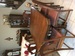 Vintage Formal Dining Room Set - chairs/table, hutch, buffet
