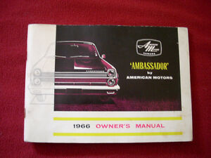 1966 AMC Ambassador owner's guide