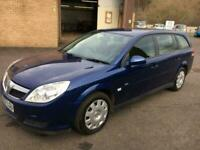 5708 Vauxhall Vectra 1.8i VVT ( 140ps ) Life Estate Blue 84127mls MOT 12m