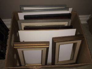 Large Box Lot Wood Picture Frames Many new various sizes 8x 10