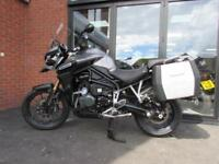 TRIUMPH 1200 EXPLORER EXCELLENT EXAMPLE FITTED WITH TRIUMPH PANNIERS AND STAND