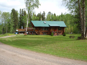 FOR SALE!Custom Log Home on 5 Acres 12 minutes West Of Smithers