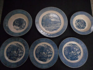 Currier & Ives plates by Royal