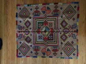Hand Woven Collectible Vintage Tapestry Rug