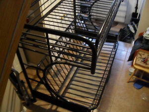 metal single over futon bunk frame   $120