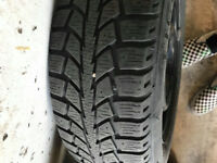 Winter tires used 1 seasons, size 195 65 R15 91S
