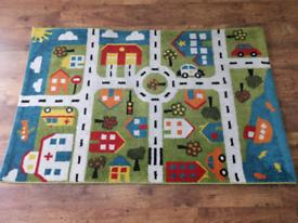 Town map rug carpet