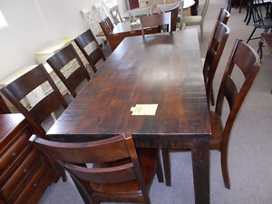 Table and eight chairs. $1199.