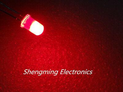 100pcs 5mm Red Diffused Led Light Lamps Fog