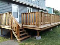 We build decks & patios