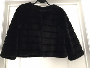Marciano Faux Fur Cropped Jacket