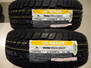 2 NEW NEXEN WINDGUARD 215 60 16 WINTER TIRES PNEUS HIVER NEUF