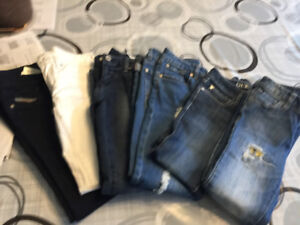 Girls size 7/8 jeans - 6 designer pairs- hardly worn - no stains