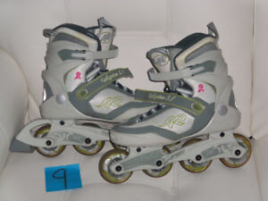 Patins roues alignés, roller blade K2 comme neuf