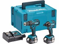 Makita DLX2007MJ 18v Brushless Combi Drill and Impact Driver 2 x 4.0ah