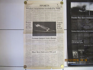 BrettHull 50th GoalNewspaper&2nd Page original Blueprint Cir1994