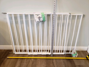 Safety First, top of stairs, metal baby gates (x2)