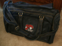 NEW!  SPO Leather Baseball Duffle Bag-REDUCED