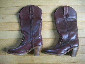 REDUCED: Leather Cowgirl Boots