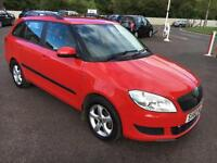 6010 Skoda Fabia 1.6TDI CR ( 75bhp ) DPF SE Red Estate MOT 12m £20 Road Tax