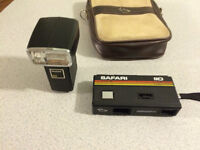 Safari 110 Diramic Camera - vintage c/w electronic flash