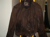 GOLDEN EAGLE moto jacket en cuir veritable