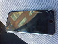 Iphone 6s Black 16GB cracked screen