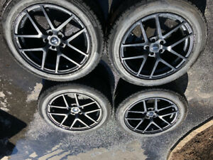 """19"""" mags and tires 235/55/19 Falken"""