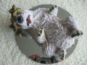 ADORABLE TERRIER PUPPY ORNAMENT FUN-and-GAMES ON HIS MIND