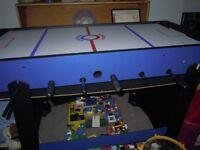 fooze ball, air hockey,pingpong table 3 in 1