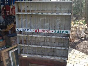 VINTAGE AMERICAN CIGARETTE DISPLAY CABINET CAMEL WINSTON SALEM
