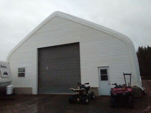 Fabric Storage Building L40' X W30' X H15' (40) PVC