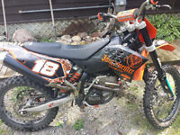 08 KTM SXF 250 with registration, top end parts and more